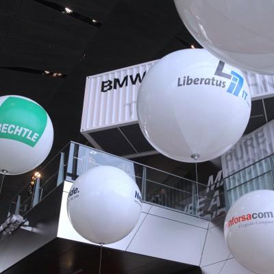 Messeballons aus PU mit Digitaldruck